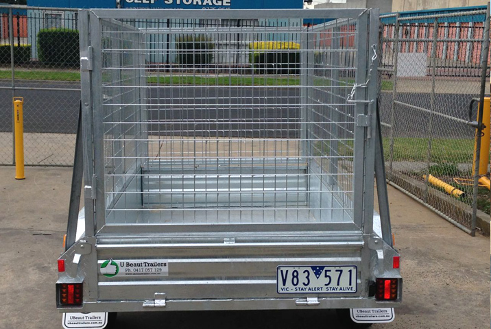 7 x 4 Heavy Duty Single Axle Tipper Trailer Galvanised Checker Plate 300mm sides