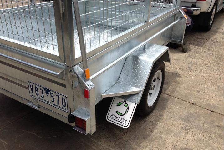 7 x 4 Heavy Duty Single Axle Tipper Trailer Galvanised Checker Plate 400mm sides
