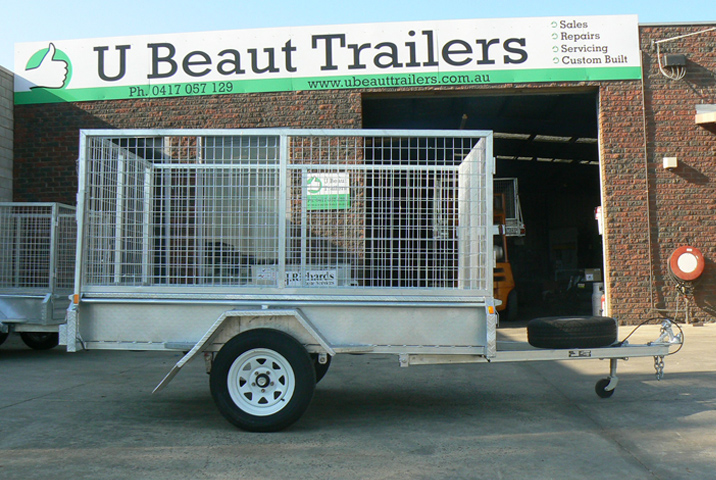 8 x 5 Heavy Duty Single Axle Tipper Trailer Galvanised Checker Plate 300mm sides