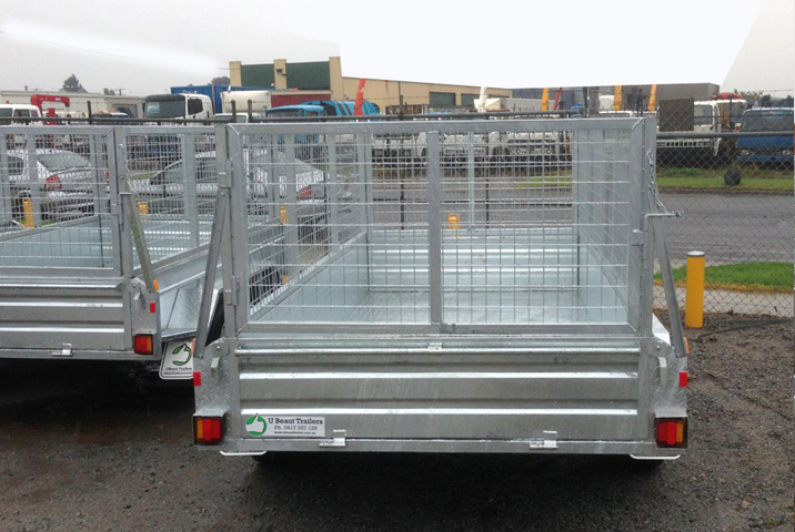 10 x 5 Heavy Duty Single Axle Tipper Trailer Galvanised Checker Plate 400mm sides