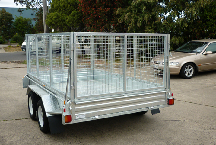 10 x 6 Heavy Duty Single Axle Tipper Trailer Galvanised Checker Plate 300mm sides