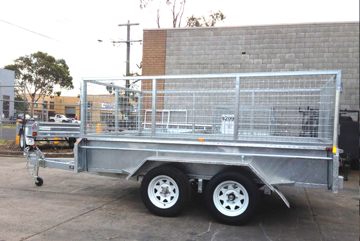 10 x 6 Heavy Duty Single Axle Tipper Trailer Galvanised Checker Plate 400mm sides