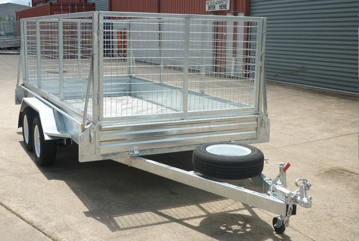 12 x 6 Heavy Duty Single Axle Tipper Trailer Galvanised Checker Plate 300mm sides