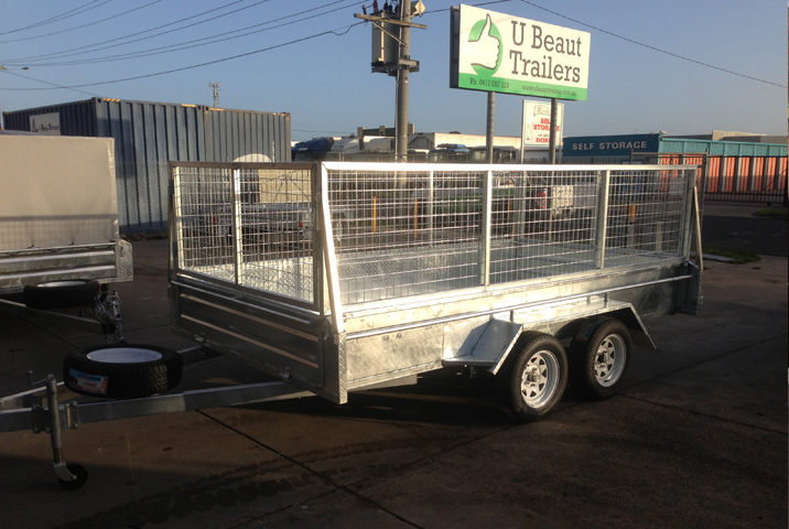 12 x 6 Heavy Duty Single Axle Tipper Trailer Galvanised Checker Plate 400mm sides