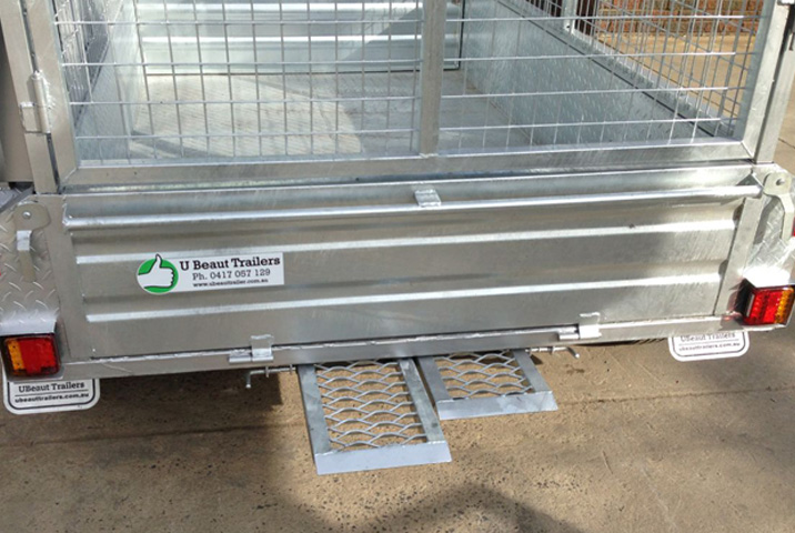 8 x 5 Tandem Trailer Galvanised Checker Plate