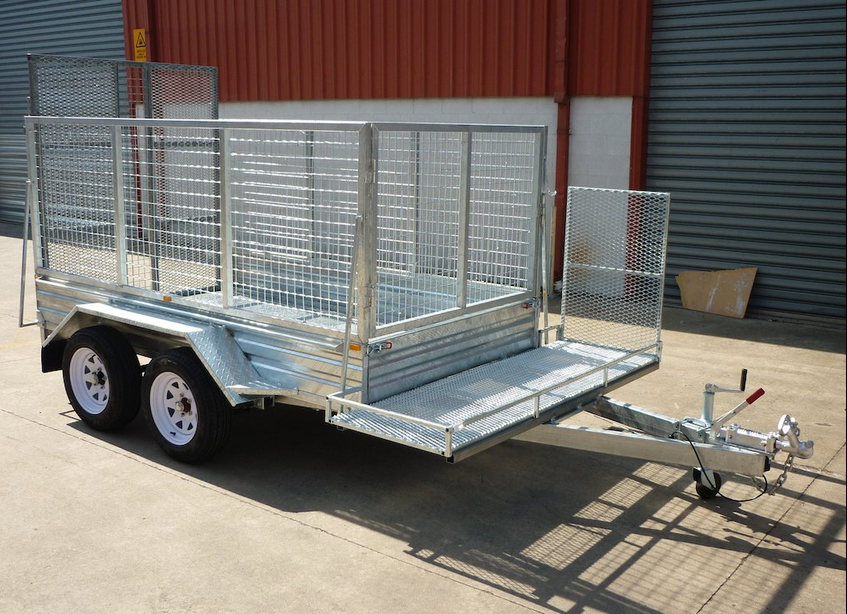 9 x 5 Tandem Heavy Duty Lawn Mower Trailer