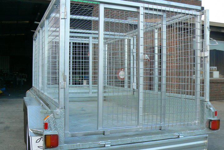 10 x 5 Heavy Duty Tandem Trailer Galvanised with Stock Crate