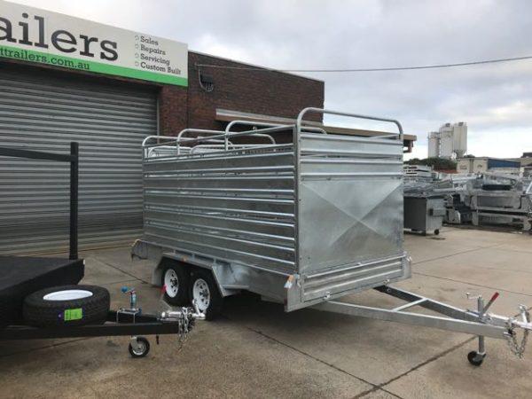 10x6, 12x6 tandem cattle trailer, galvanised
