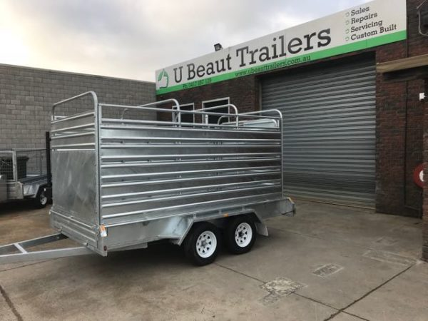 10x6, 12x6 tandem cattle trailer, galvanised