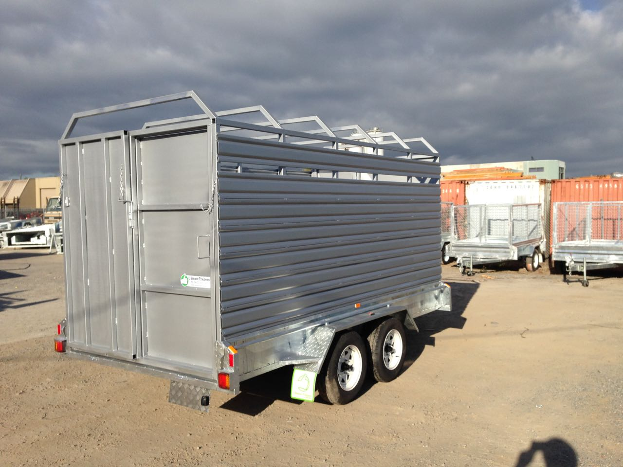 12x6 tandem stock cattle trailer