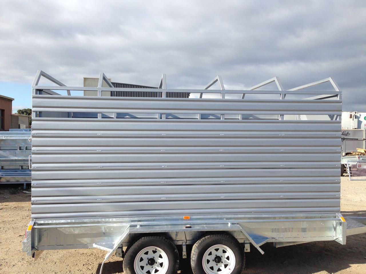 12x6 tandem stock cattle trailer