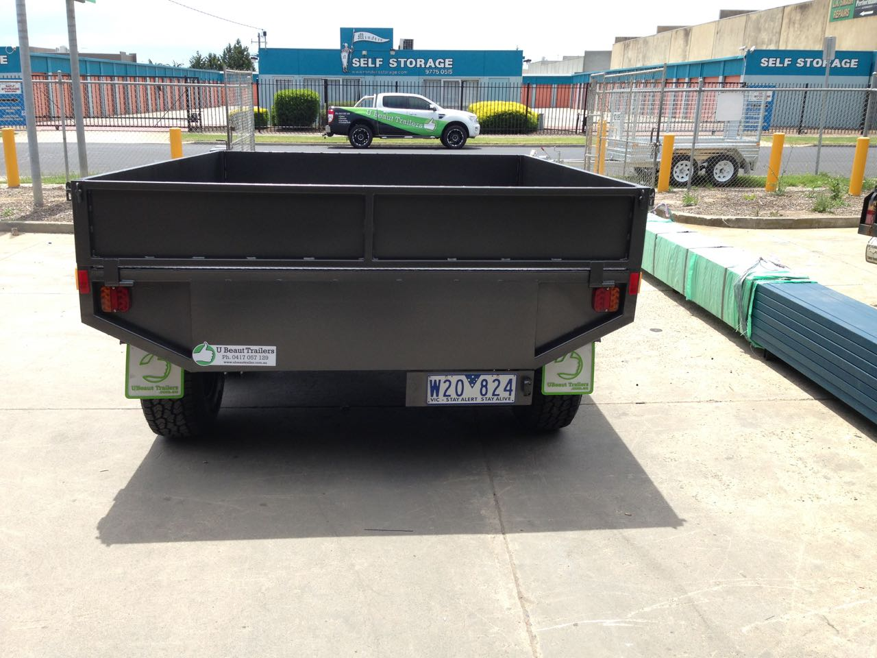 9x7 Flat top trailer off road