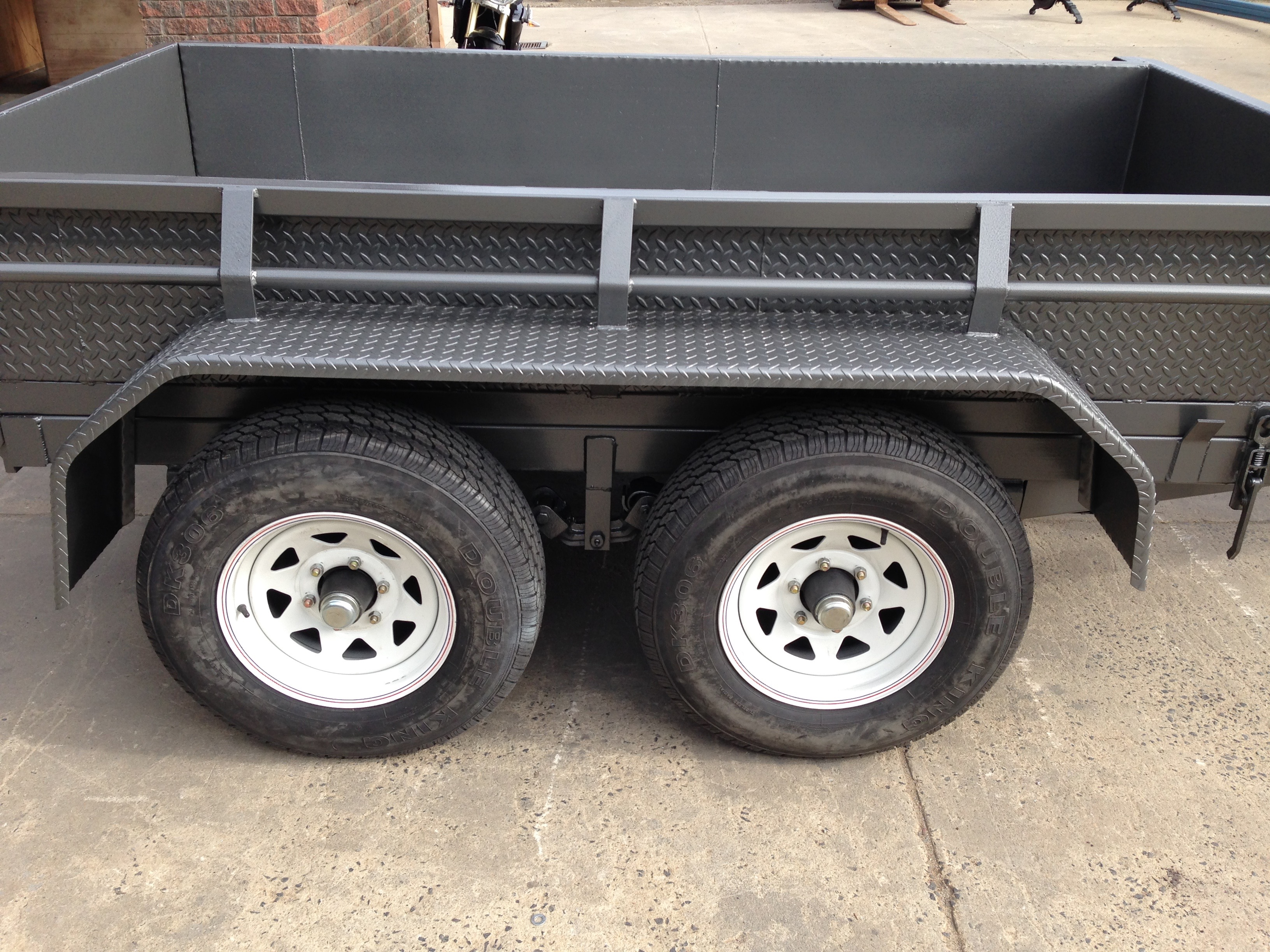 9x5 Tandem Tipper with 380mm side 3500kg ATM , Tipper Trailer Tandem, Australian made