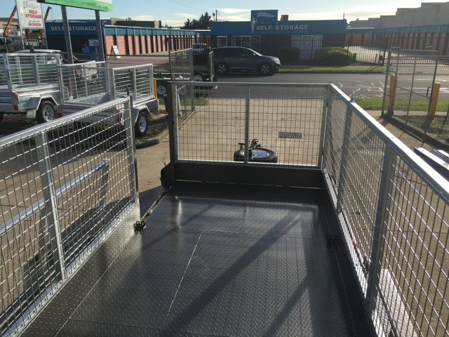 16x6 Lawn Mowing Tandem Trailer Cage trailer Australian made Ramp