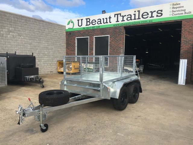8x5 Tandem Trailer Off Road Heavy Duty 400mm Deep Side 2000kg ATM Australian made