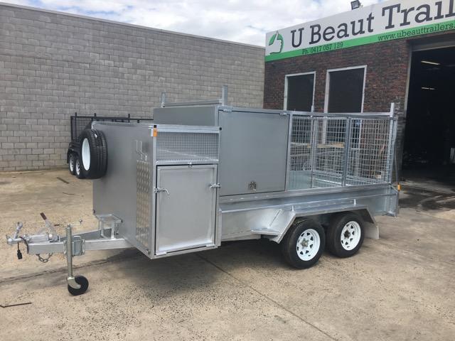10x5 Tradesman Tradie Tandem Trailer 1/2 cage H-bars 2000kg ATM