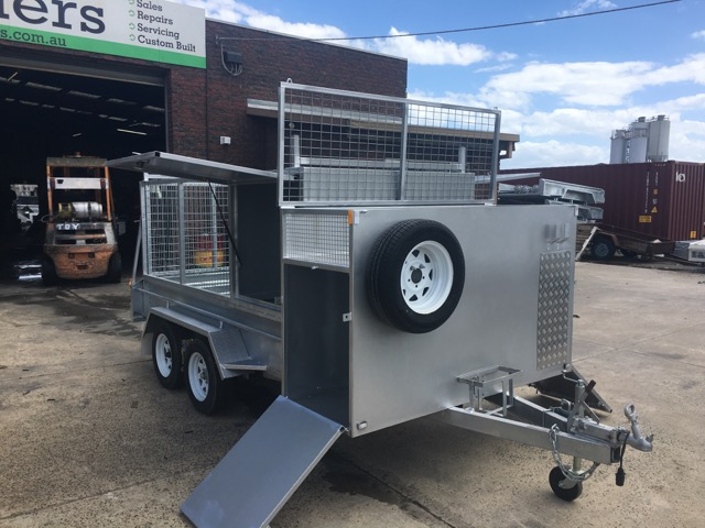 10x5 Tradesman Tradie Tandem Trailer 1/2 cage H-bars 2000kg ATM
