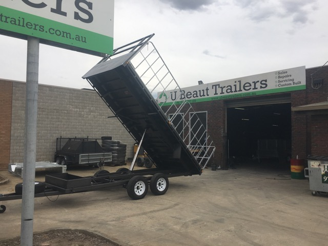 Buy Now $12690, 16x8 Flat Top Hydraulic Tipper Tandem with Truck gates , 3500kg ATM