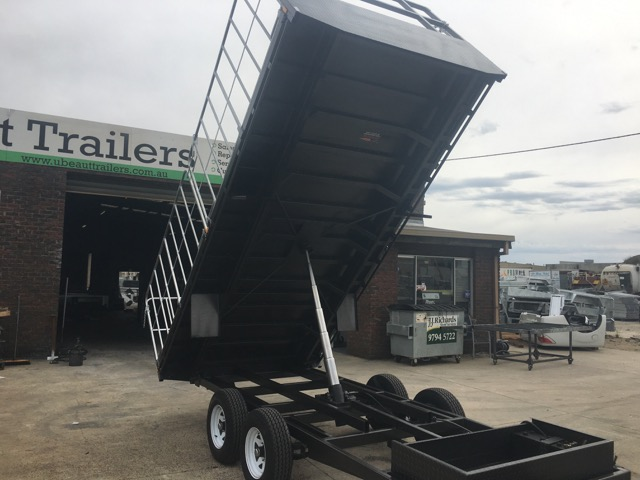 $12690 16x8 Flat Top Hydraulic Tipper Tandem with Truck gates , 3500kg ATM