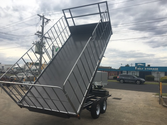 Buy now $12690 16x8 Flat Top Hydraulic Tipper Tandem with Truck gates , 3500kg ATM