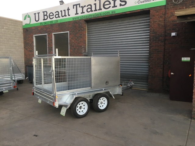 8x5 Tandem tradesman trailer Galvanised